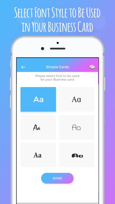 Screenshot of iBusiness Card Maker4