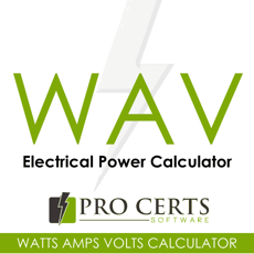 ‎Watts Amps Volts  Calculator