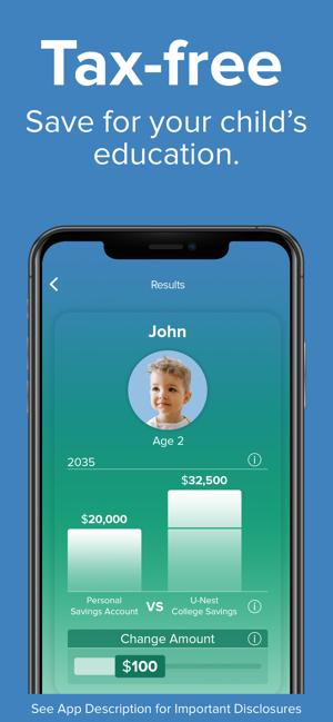 UNest: College Savings App Screenshot