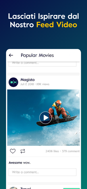 Magisto Editor Montaggio Video Su App Store