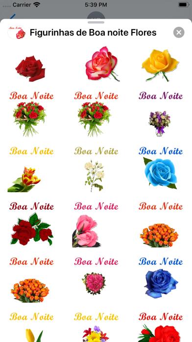 Figurinhas de Boa noite Flores screenshot 4
