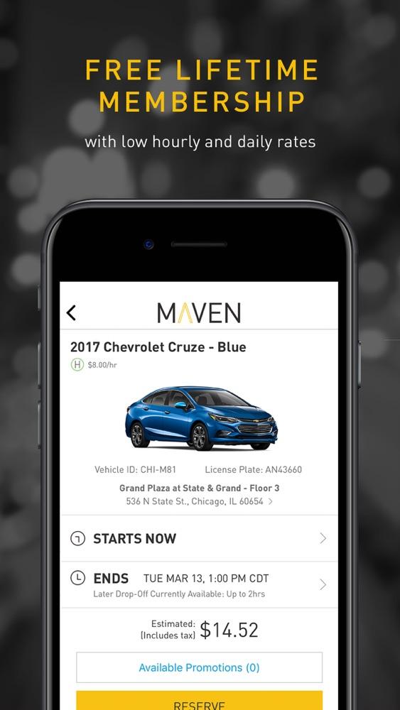 Maven – Car Sharing App for iPhone - Free Download Maven – Car