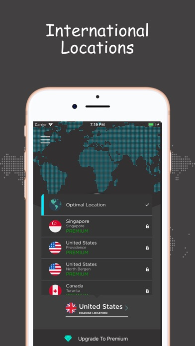 iCrypt VPN Unlimited Proxy screenshot two