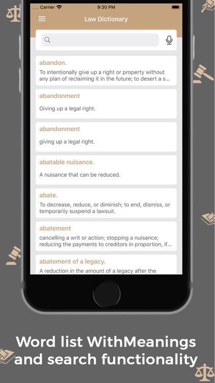 Law Dictionary : Offline