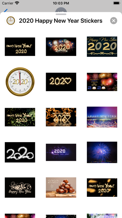 2020 Happy New Year Stickers screenshot 2
