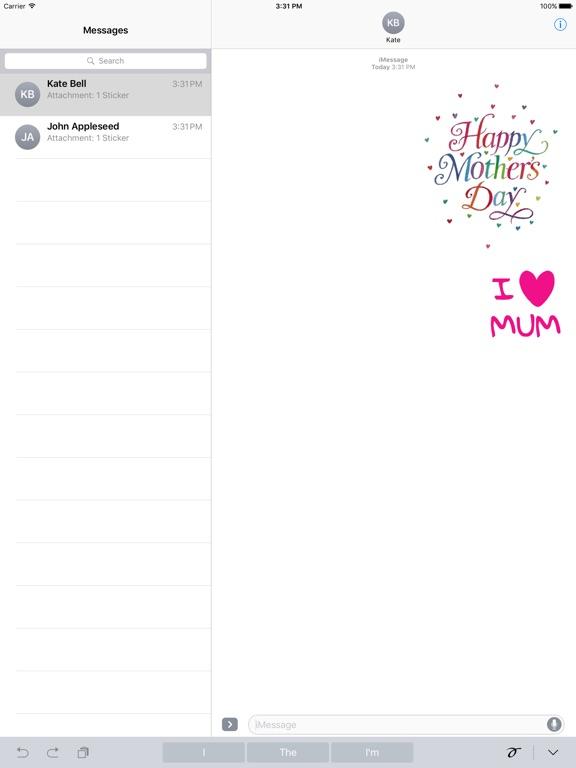 I Love Mom Animated Sticker screenshot 4