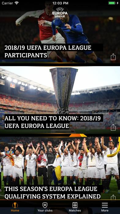 Screenshot #3 pour UEFA Europa League Officiel