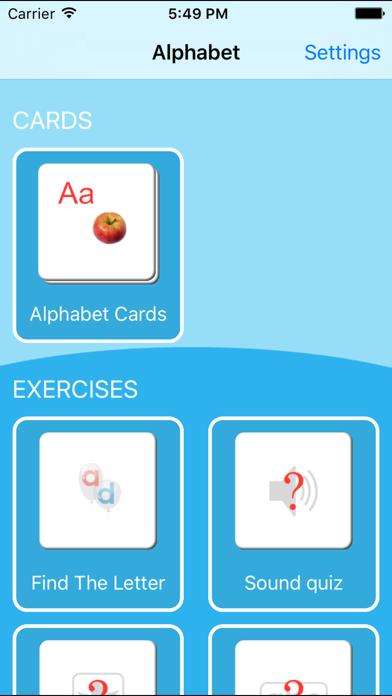 English Alphabet Cards Screenshots