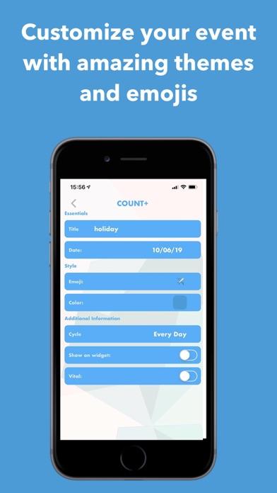 Count+: Event Reminder & Timer Screenshot