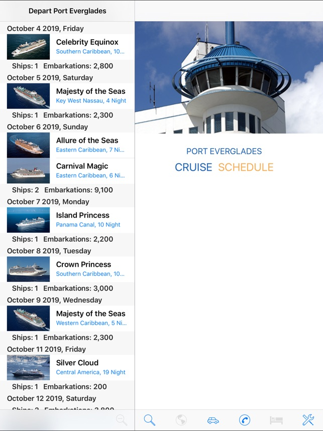 CruiseSchedule Port Everglades on the App Store