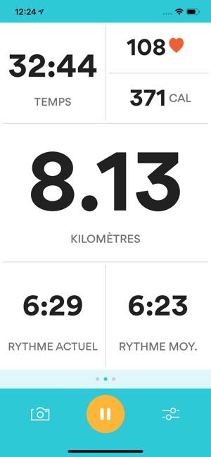 Runkeeper- Suivi de course GPS Capture d'écran
