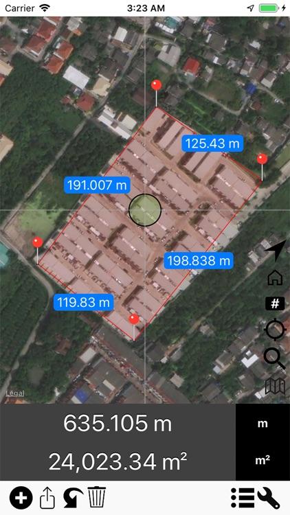 Area & Distance - Map Measure