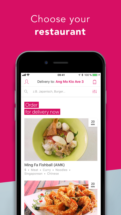 Screenshot for foodpanda - Food Delivery in Singapore App Store