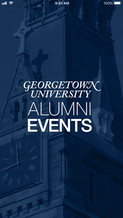 Georgetown Alumni Events screenshot one