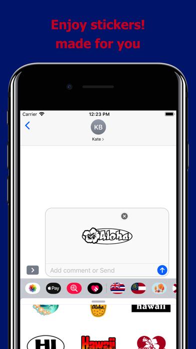 Hawaii emojis - USA stickers screenshot 5