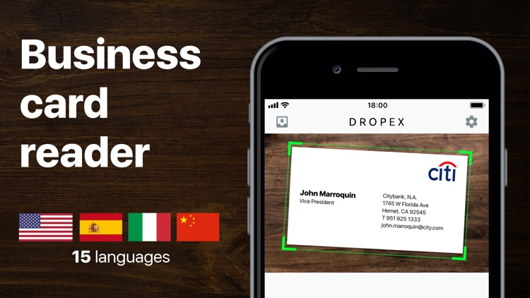 Business card scanner - DropEx