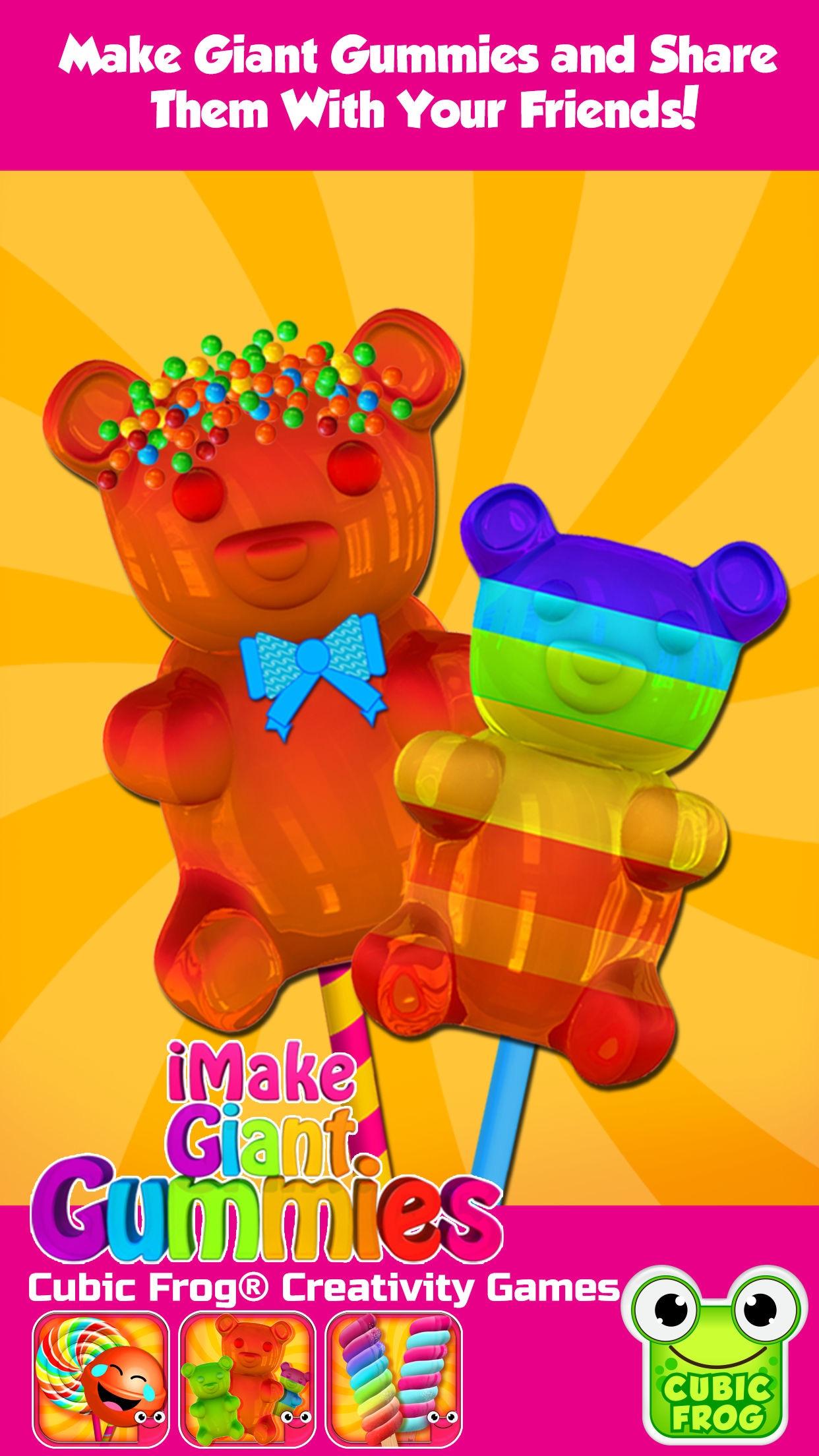 Gummy Bear Maker Candy Design! Screenshot