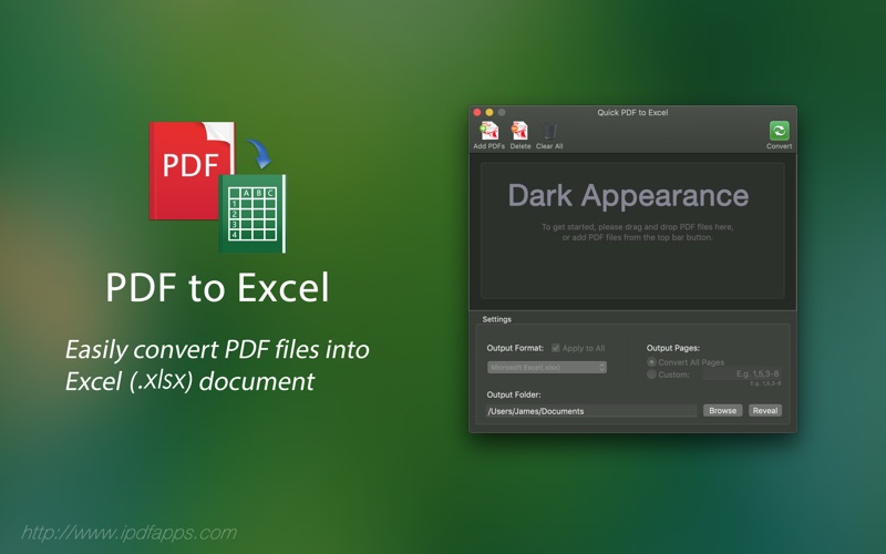 Quick PDF to Excel for Mac