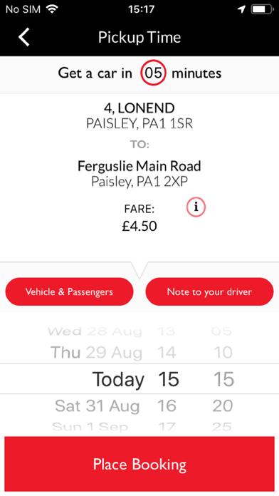 Renfrewshire Cab Co screenshot two