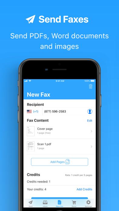 JotNot Fax Screenshot