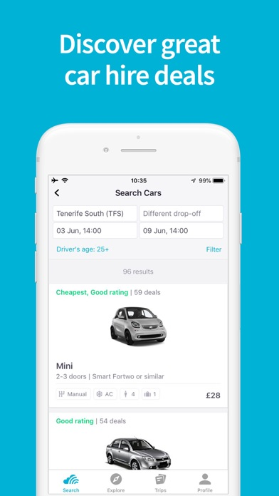 Screenshot for Skyscanner Travel Deals in Azerbaijan App Store