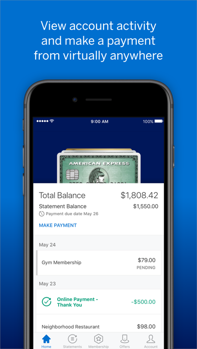 Amex review screenshots
