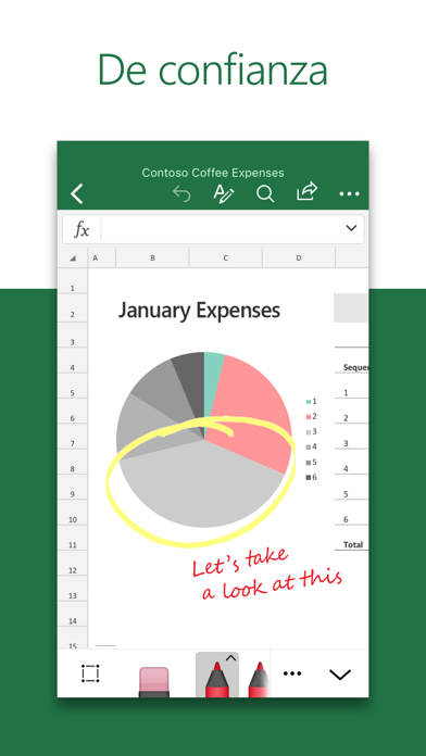 Screenshot for Microsoft Excel in Mexico App Store