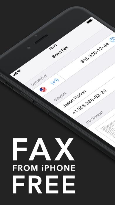 FAX FREE: Send Fax from iPhone Screenshot