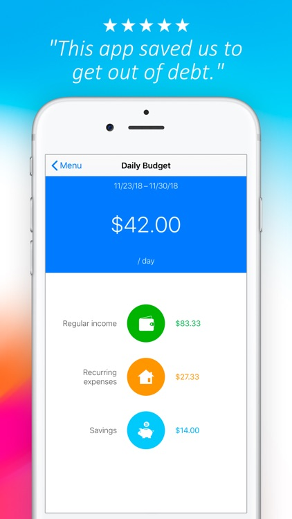 Daily Budget Original screenshot-3