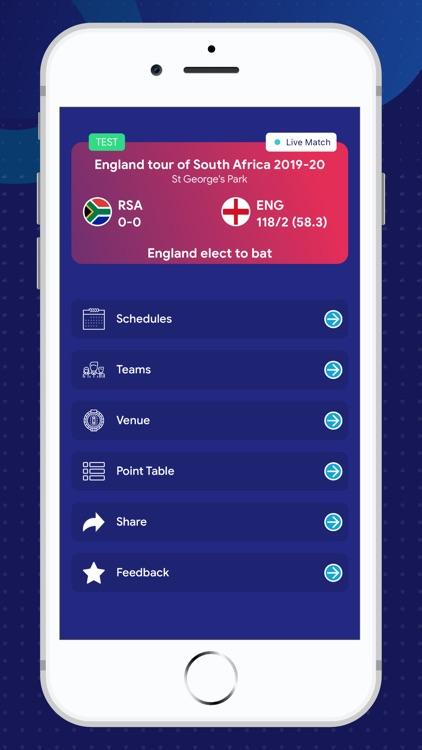 Live cricket scores update