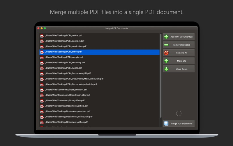Screenshot PDF Plus - Merge & Split PDFs