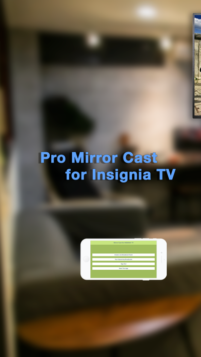 Pro Mirror Cast 4 INSIGNIA TV Screenshots