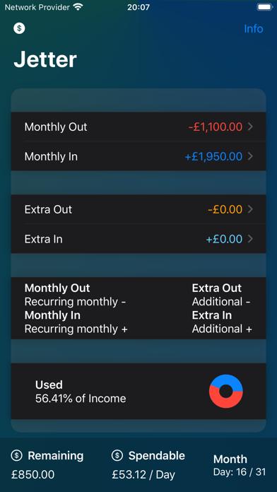 Jetter: Easy Spending Tracker screenshot #1