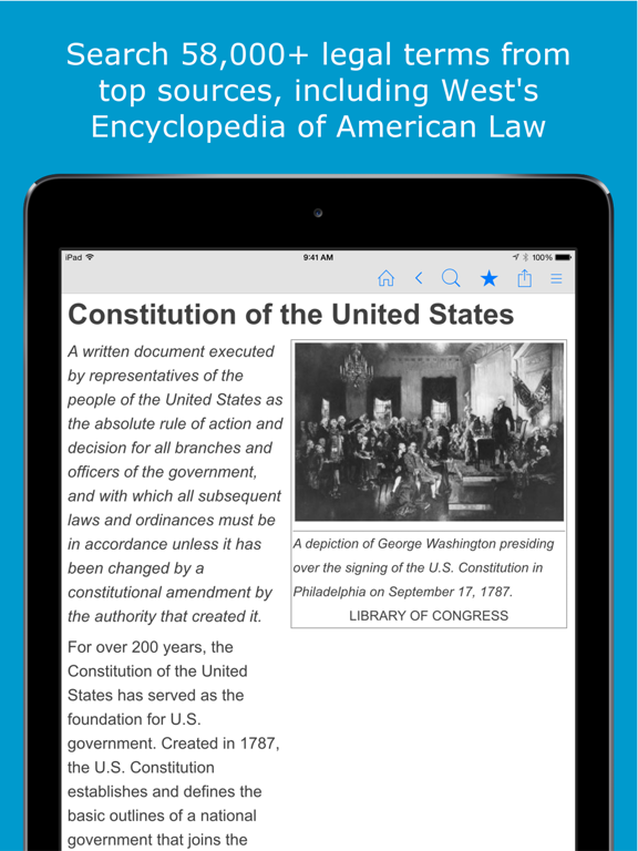 Legal Dictionary - Law Definitions and Thesaurus screenshot