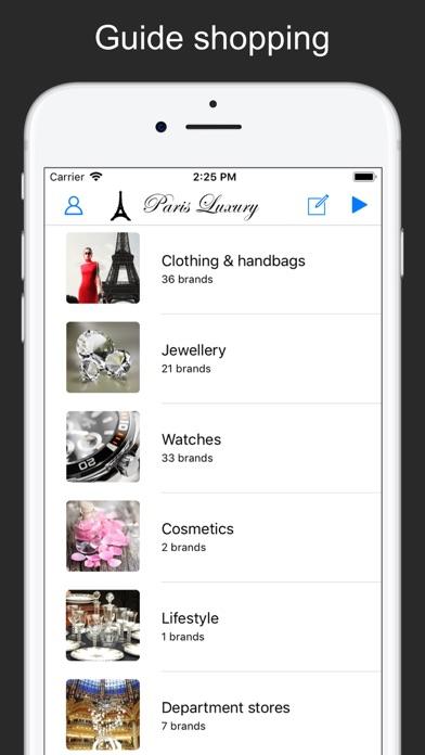 Screenshot #1 pour Paris Luxury - Guide Shopping