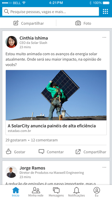 Screenshot for LinkedIn in Brazil App Store
