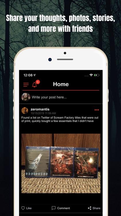Slasher Horror Social Network screenshot-4
