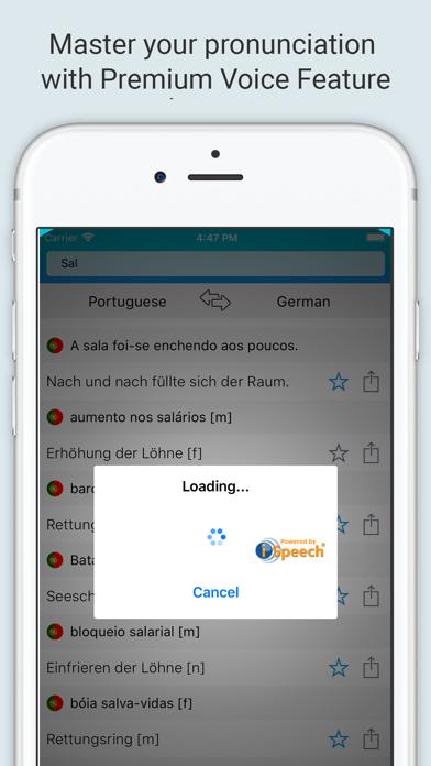 German-Portuguese Dictionary + screenshot 4