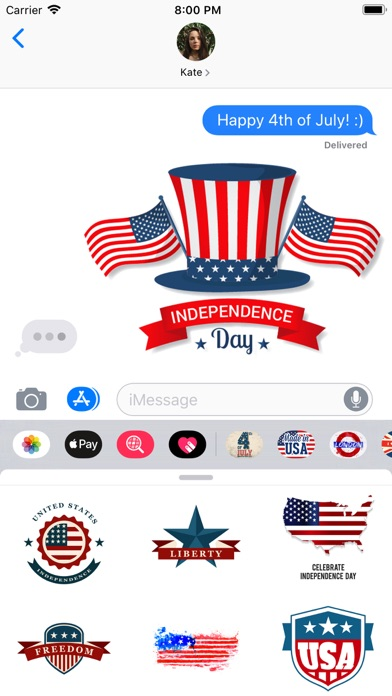 Independence Day Stamps screenshot 1