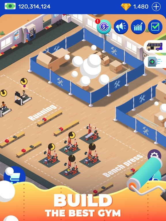 Idle Fitness Gym Tycoon - Game screenshot 10