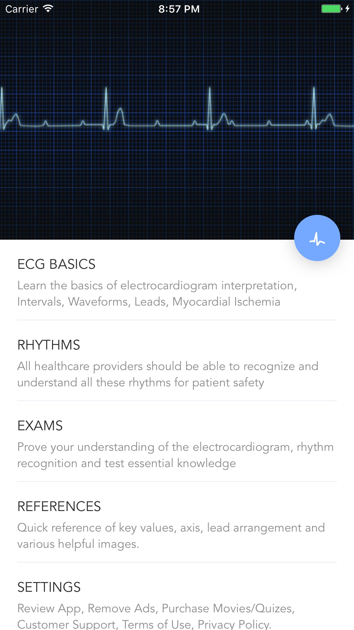 Instant ECG - Mastery of EKG Screenshot