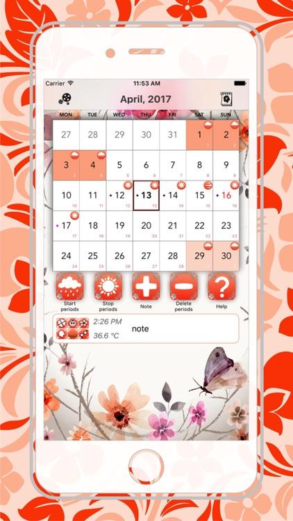 Teddy bear - Period Calendar