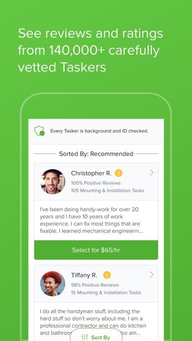 Taskrabbit review screenshots