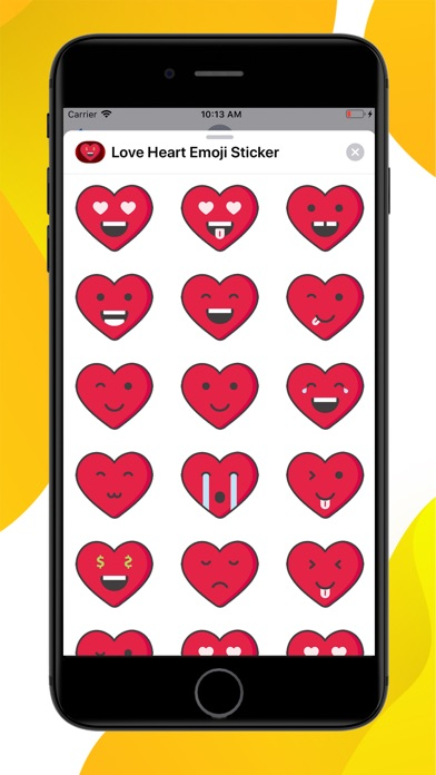 Love Heart Emoji Stickers screenshot 1