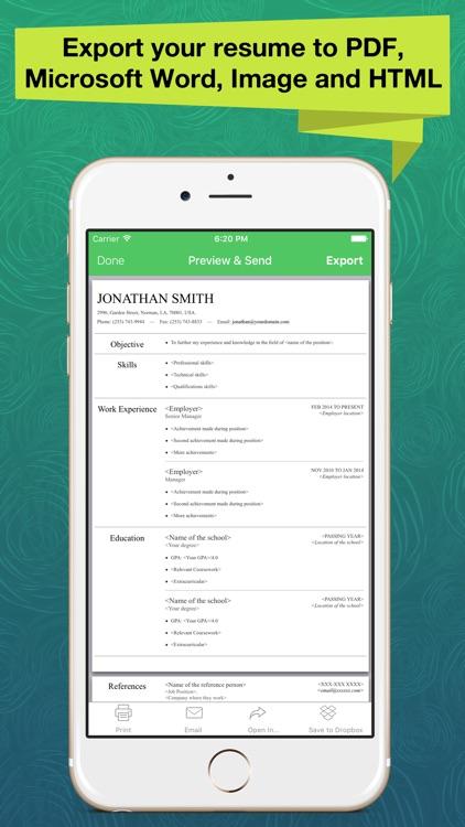 Resume Apex Pro – Resume Build screenshot-3