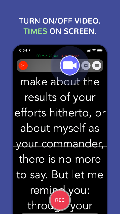 Prof. Hornet Teleprompter Pro Screenshots