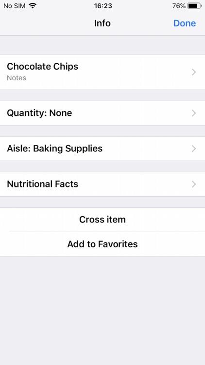 Grocery & Shopping List screenshot-4