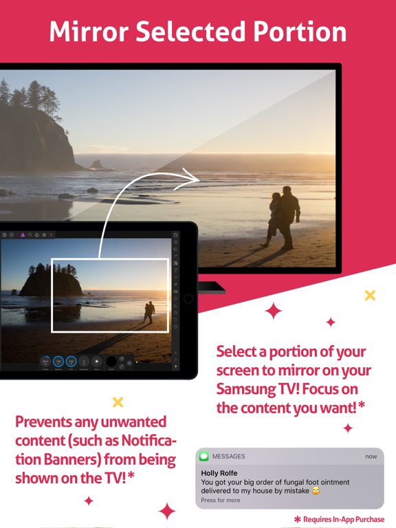 Mirror for Samsung TV HD