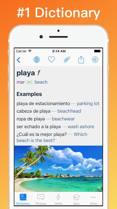 Spanish Dictionary + © Screenshot