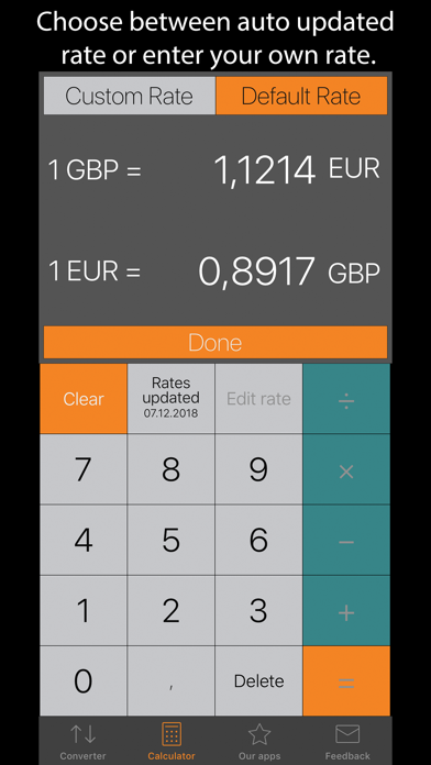 Currency Converter Plus ScreenShot2